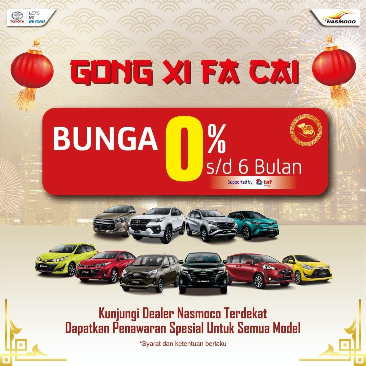 Special Imlek Bunga 0% Semua Model Toyota di Dealer Toyota Solo
