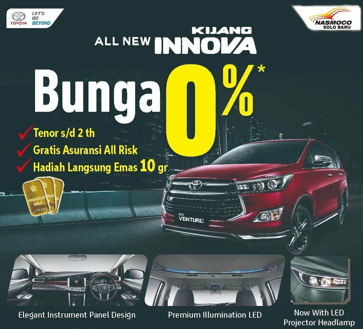 Promo Spesial Bunga 0% Pembelian Toyota Innova Di Solo